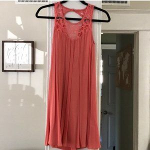Altar'd State Coral Colored Laced Dress (Sz XS)